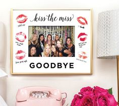9 Brilliant Ways to Bring Your Bachelorette Party Photos to Life via Brit + Co Party Photo Frame, Party Frame, Photo Booth, Photo Props, Gruseliger Clown, Hen Party Bags, Engagement Party Favors, Bachelorette Party Planning, Hen Party Accessories