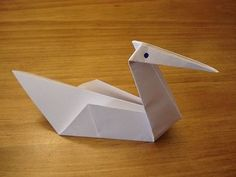 How to Fold a Simple Origami Swan