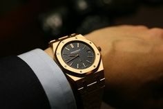 Most Expensive Watches. We all love to wear a watch but not many can afford one of these most expensive watches. When it comes to wearing something, a watch on a man's wrist is a must. They complete our outfit, and they add to it a touch of sophisticat Amazing Watches, Beautiful Watches, Cool Watches, Audemars Piguet Watches, Audemars Piguet Royal Oak, Stylish Watches, Luxury Watches For Men, Expensive Watches For Men, Swiss Army Watches