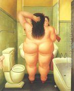 The Bathroom 1989  by Fernando Botero