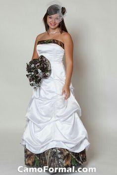 Camo wedding dress