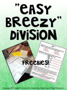 """Make Long Division """"Easy Breezy"""" with these Division Freebies"""