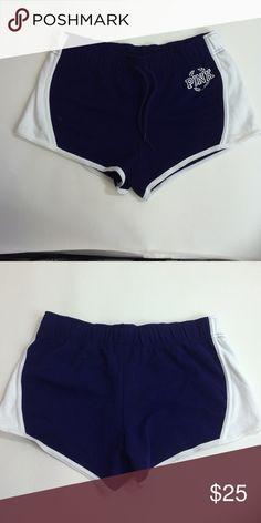 Victoria secret pink blue large shorts Pink shorts PINK Victoria's Secret Shorts