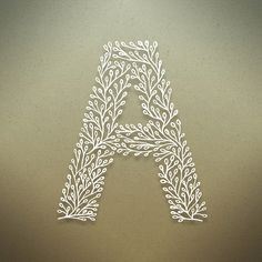 Typography: Fantastic botanical alphabet by designer Seth Mach. Typography Served, Typography Letters, Typography Design, Embroidery Patterns, Ribbon Embroidery, Embroidery Sampler, Handwritten Text, Quilled Creations, Quilling Patterns