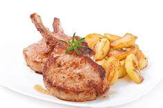 Grilled Pork Chops with Sauteed Apples