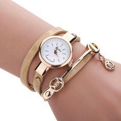 Ρολόι Βραχιόλι με Φολιδωτό Σχέδιο Μπεζ (1006907)