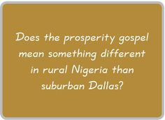 prosperity gospel - Google Search
