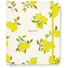 Kate Spade New York Lemon Recipe Book ($34) ❤ liked on Polyvore featuring home, kitchen & dining, cookbooks, lemon, filler, cook-book and kate spade