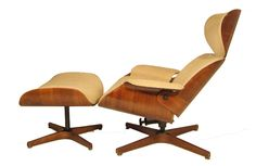 Plycraft is known for producing the most common mimicry of the famous Eames Lounge, but Über Modern has a less common version of Mulhauser's lounge chair without tufting buttons and with a plywood ...
