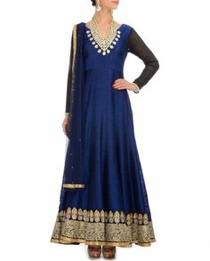 I NEED a reason to buy this!  Midnight Blue Anarkali Suit