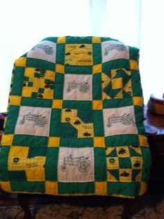 John Deere quilt-this might be a good choice also.