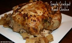 Simple Crockpot Whole Roast Chicken - Don't Mess with Mama.com