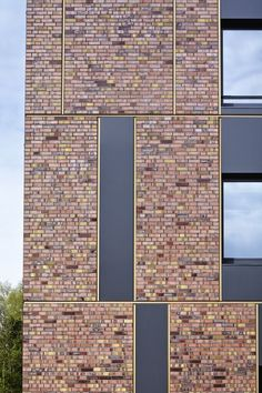 Cross-federal composition of monoliths - the new cross federal cadastre in Stade, Germany with its facade of #brick and #alucobond: