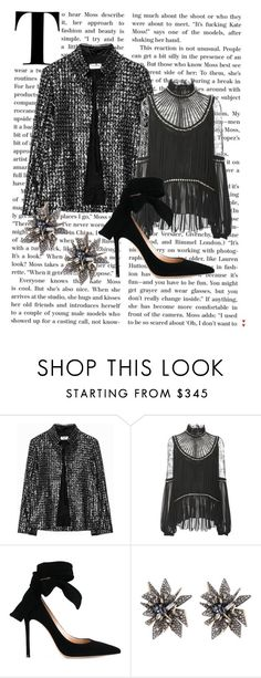 """""""nyei"""" by xxelectre on Polyvore featuring moda, Elie Saab, Gianvito Rossi e Alexis Bittar"""
