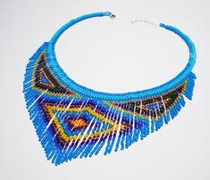 Native American style beaded fringe necklace  https://www.etsy.com/listing/175002156/native-american-beaded-fringe-choker?