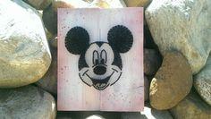 Mickey Mouse string art sign by Naileditartbydian on Etsy