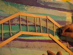 a Monet-inspired art project...build a bridge on your painting with popsicle sticks and toothpicks!
