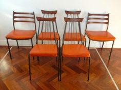 Set of 6 Framac vintage retro 60s collector Dining Chairs