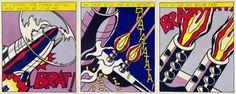 roy lichtenstein as i opened fire triptych