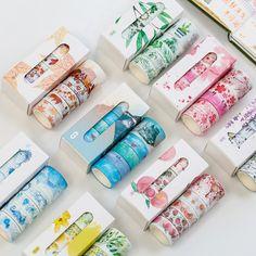 "Universe of goods - Buy Pcs/Box Beautiful Flower washi tape DIY decoration scrapbooking planner masking tape adhesive tape label sticker stationery"" for only USD. Washi Tape Planner, Washi Tape Diy, Masking Tape, Washi Tapes, Duct Tape, Diy Washi Tape Stickers, Taśma Washi, Bullet Journal Washi Tape, Album Diy"