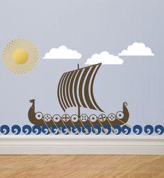 SALE VIKING Ship Boat Vinyl Wall Decal Sticker Graphics by DECOmod Walls. $42.00, via Etsy.