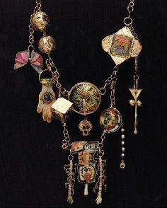 Necklace |  William Harper.  9 Tantric Amulets for Jasper Johns, 1994.