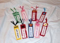 Supergirl Super Girl Party Favors Bookmarks Book Marks For Treat Goody Loot Favor Bags Sacks Kids Birthday