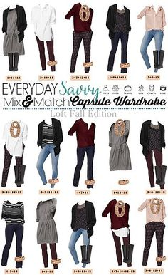 Mix and Match Outfits for Fall From Loft | Everyday Savvy | Bloglovin