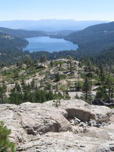 friendsofwater.com: A long shot from above #Donner Lake, famous from the Donner Party at Donner Pass.