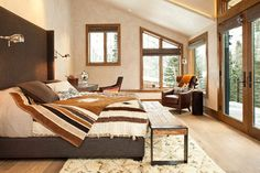 Sophisticated Bedroom with Mountain Views - contemporary - bedroom - denver - Studio Frank