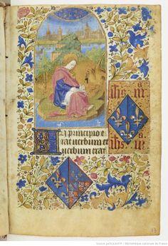 Titre : Heures à l'usage de Paris [Heures de Jeanne de France] . Date d'édition : 1440-1460 NAL 3244 13r