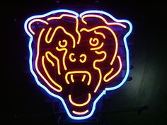 Chicago Bears Football Beer Bar Pub Neon Light Sign.