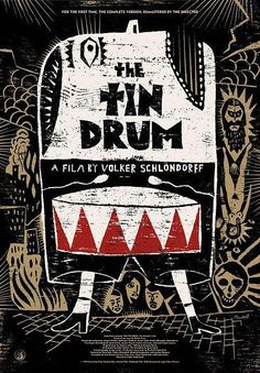 "Check out Janus Films' new poster for Volker Schlöndorff's The Tin Drum. They'll be screening a new DCP of the director's cut: "" September 21 - 27 New York, NY - Film Forum September 29 San Francisco,. Gfx Design, Graphic Design, Layout Design, Ex Libris, Tambour, Illustration Arte, The Criterion Collection, Arte Online, New Poster"
