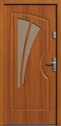 Drewniane wejściowe drzwi zewnętrzne do domu z katalogu modeli klasycznych wzór 570s5