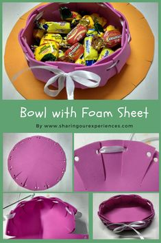 A complete tutorial on how to make bowl with foam sheets