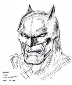 ball point pen flipped through my copy of Batman 'Hush' by Jim Lee and just started filling the page with head shots. i was drawing direct with only ball point pen so i was fortunate the compositio. Batman Hush, Comic Books Art, Book Art, Jim Lee, Comic Artist, Hush Hush, Head Shots, Deviantart, Cartoon