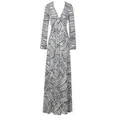 2531dff6cd2 Stephen Burrows Zebra Print Dress circa 1970s
