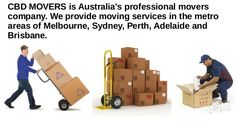 CBD Movers are renowned Packers and Movers Melbourne specializing in home and office removals. We help you in planning your move, pack your belongings, deliver them to your new location and unpack them as well.  House, Office or Industrial relocation.  Heavy furniture moving or rearranging.  Goods loading and unloading to containers and trucks.  Man and a van.  Forklift drivers and crane operators.  Quick Door-to-Door delivery.  Courier services.  Pallets deliveries.  EBay pickup and…