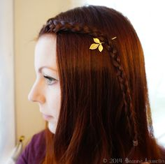 Beautiful Celtic Hair with lovely leaf hairpin