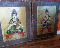 """Vintage Alchapa Original Buddha Art 1940s $225.00 