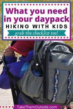 Looking for tips on how to pack for family hiking and adventure?  Grab this free printable download and make sure the next time you head outdoors you've got the gear, food, and all the other things you'll need!  #daypack #hikingchecklist #hiking