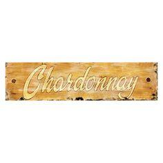 Winston Porter 'Chardonnay' Textual Art on Wood Wine Wall Art, Metal Wall Art, Wood Art, Wood Wood, Distressed Wood Wall, New Wall, Joss And Main, How To Distress Wood, Rustic Charm