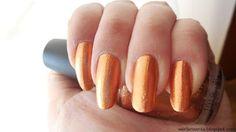 złote paznokcie, miedziane paznokcie, lakier OPI #werterownia