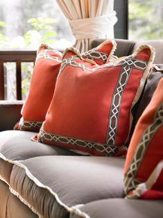 Love these pillows - Francie Hargrove Interior Design Custom Pillows, Decorative Pillows, Cushion Covers, Pillow Covers, Pillow Talk, Pillow Fight, Textiles, Perfect Pillow, Autumn Home