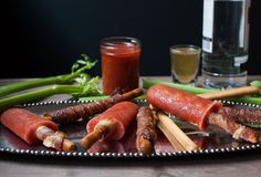 Bacon-Infused Bloody Mary Popsicles With Bacon Sticks, 'Cause Screw It
