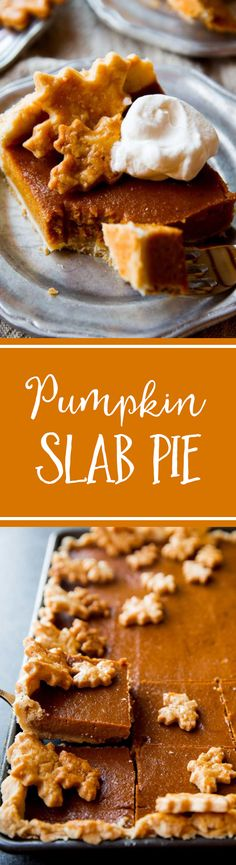 Perfectly Creamy And Spiced Pumpkin Slab Pie To Feed A Crowd Recipe On - Thanksgiving Recipes - French Holiday Desserts, Just Desserts, Holiday Recipes, Delicious Desserts, Holiday Ideas, Tart Recipes, Best Dessert Recipes, Baking Recipes, Spiced Pumpkin