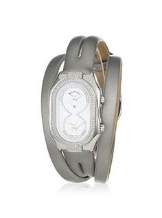 Philip Stein Women's 14DP-IDW-IPLDW Prestige Cocktail Silver/Mother-of-Pearl Leather Wrap Watch