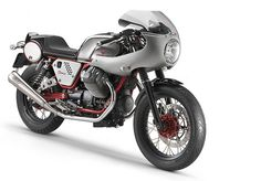 Well, I want to say that this is a beautiful NEW old school cafe bike. I want that fairing (V7 Record Kit) on my V7 Racer.
