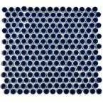 UPSTAIRS BATHROOM FLOOR TILE  Hudson Penny Round Smoky Blue 12 in. x 12-1/4 in. x 5 mm Porcelain Mosaic Tile