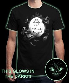 """My Reality"" is today's £8/€10/$12 tee for 24 hours only on www.Qwertee.com Pin this for a chance to win a FREE TEE this weekend. Follow us on pinterest.com/qwertee for a second! Thanks:)"